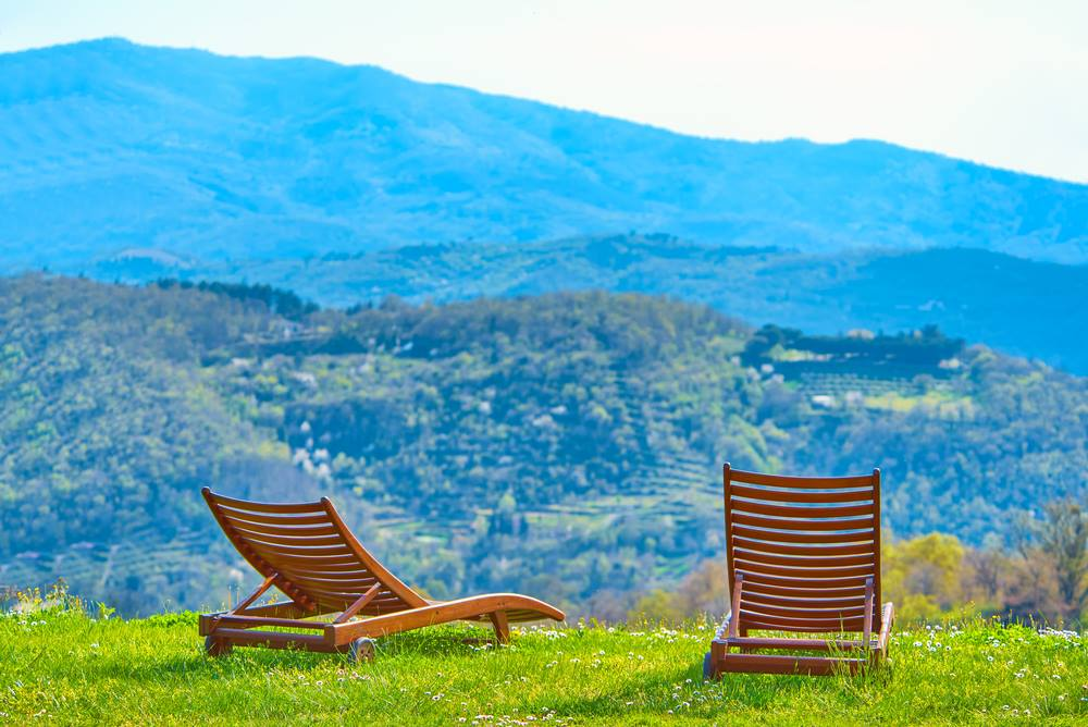 American Patriot Getaways Seats with a View of the Great Smoky Mountains