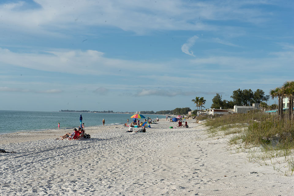 People on Anna Maria Beach