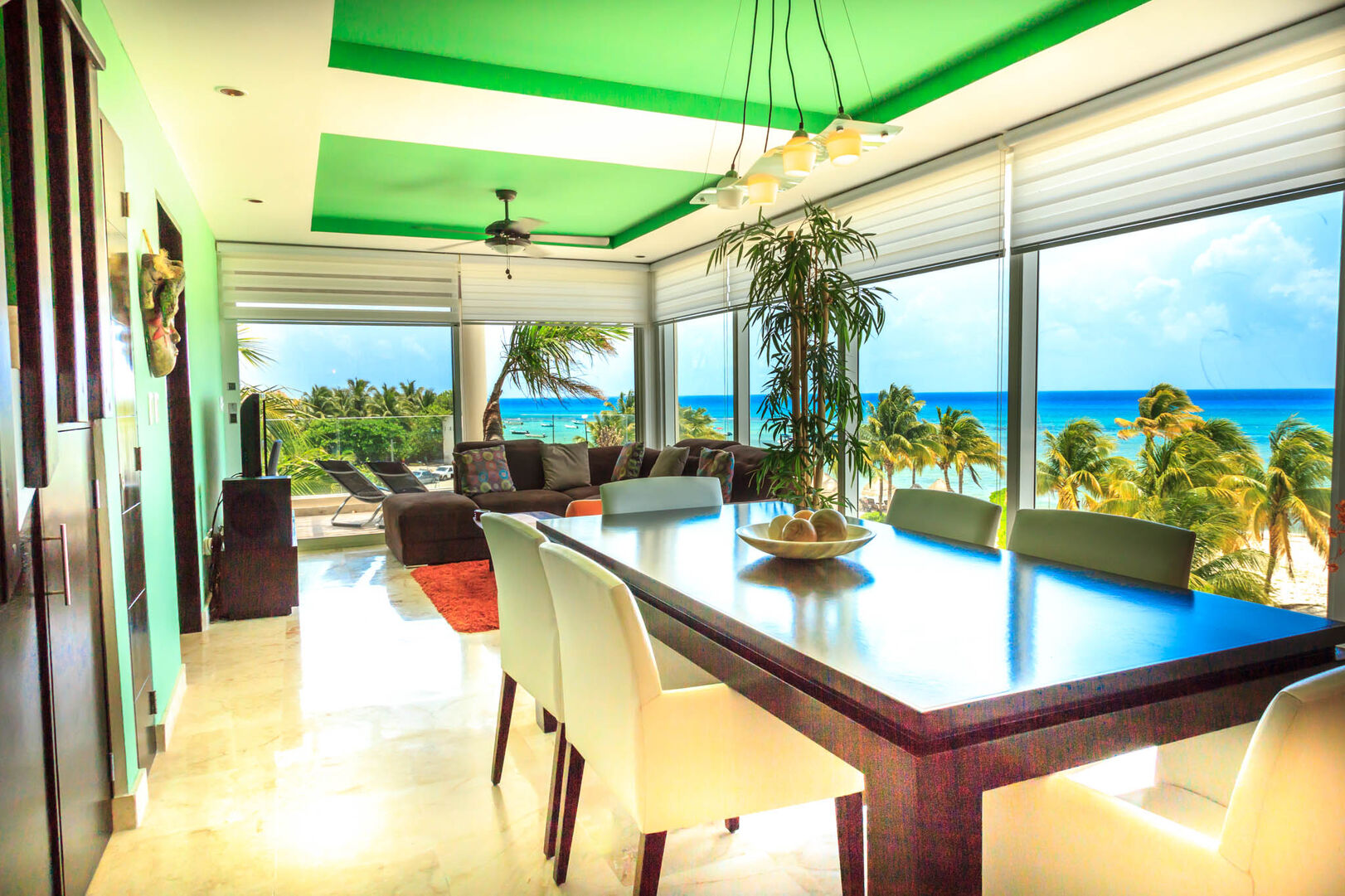 Bric Vacation Rentals Elements Penthouse Dining Living Playa del Carmen Mexico