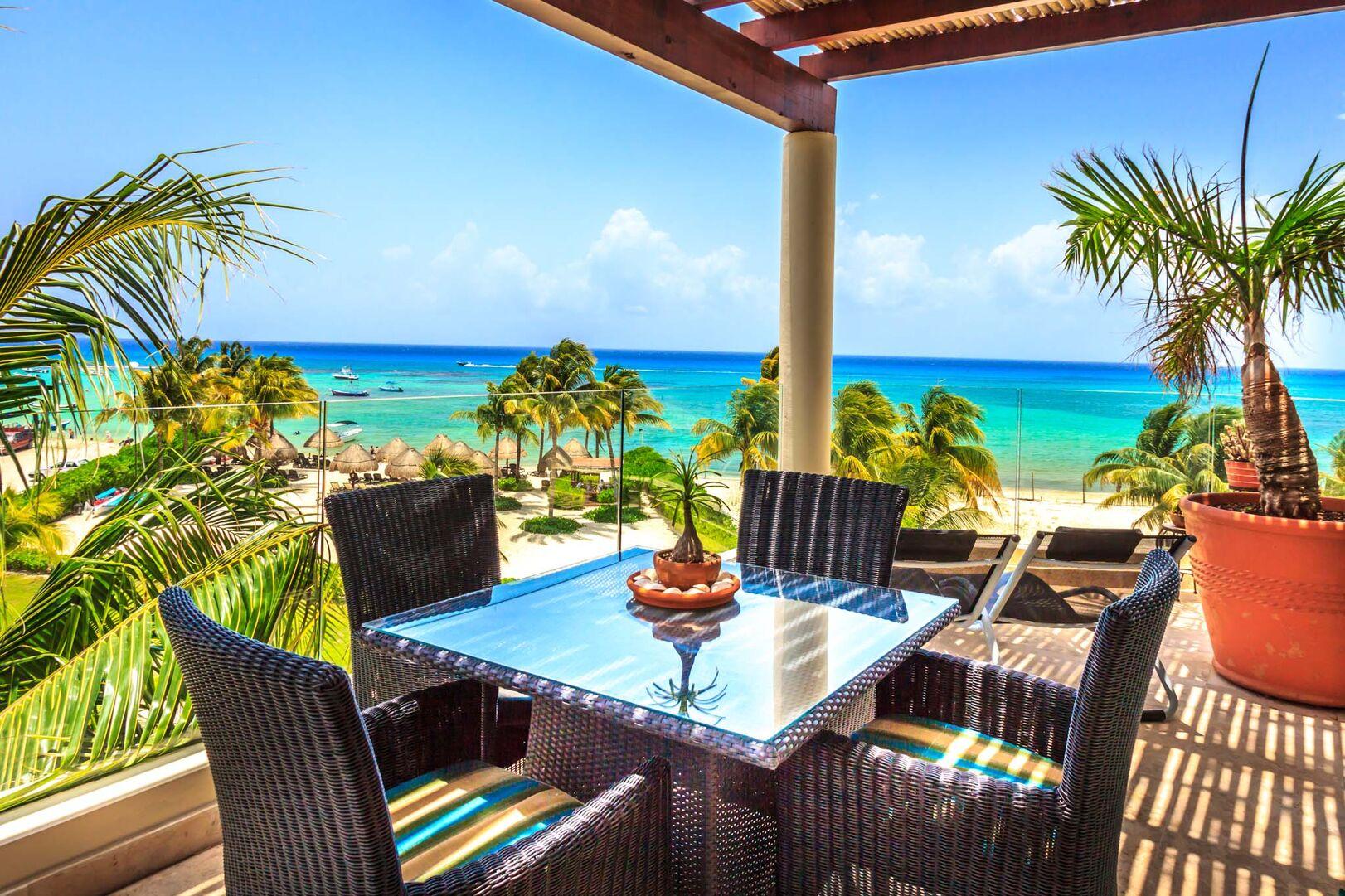 Bric Vacation Rentals Elements Penthouse Patio Playa del Carmen Mexico