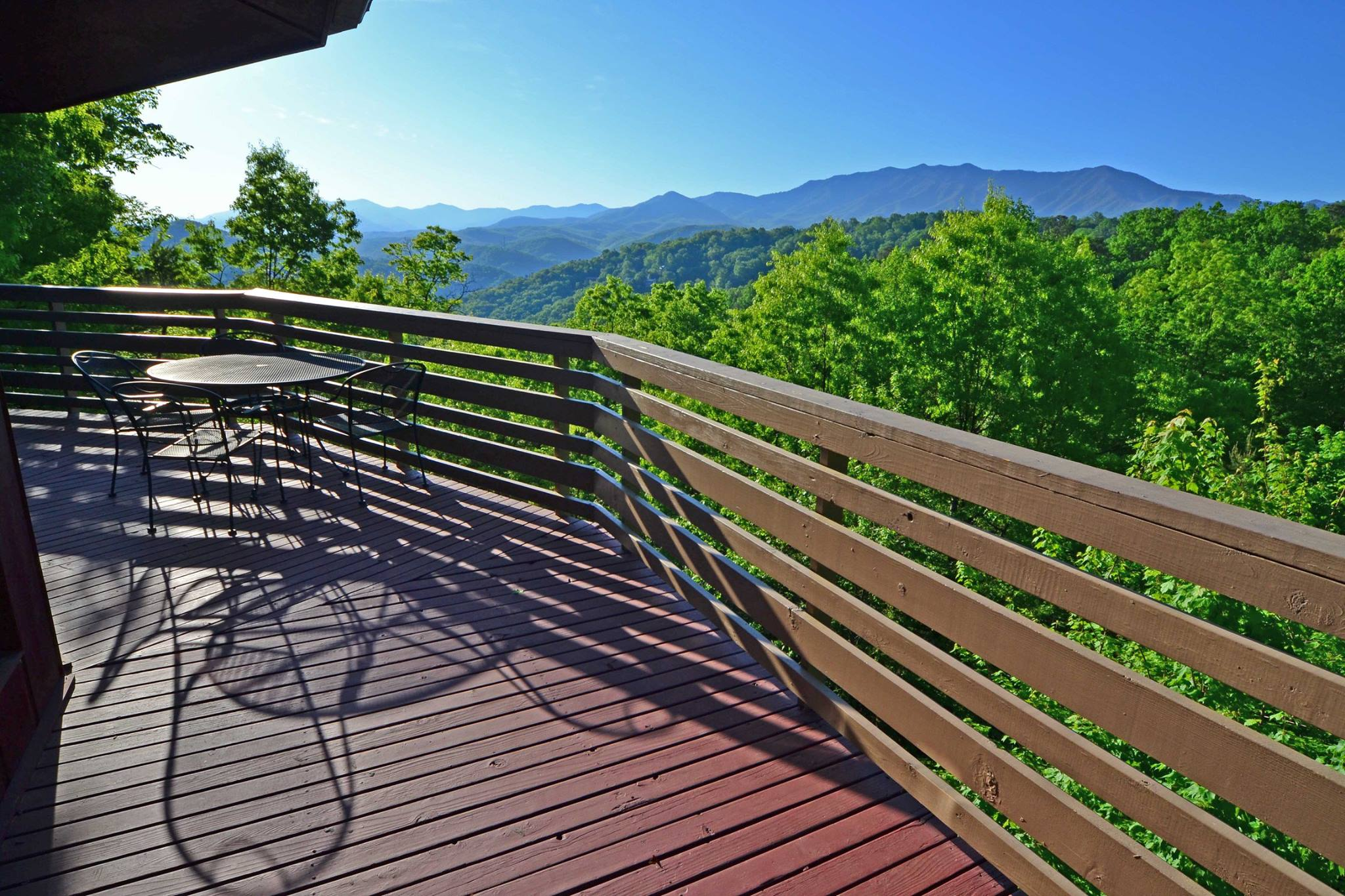 Chalet-Village-Properties-Deck-View-Gatlinburg-Great-Smoky-Mountains-Tennessee.