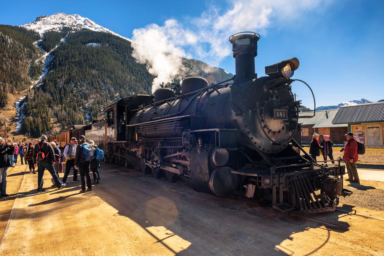 Durango to Silverton Colorado Steam Engine Train