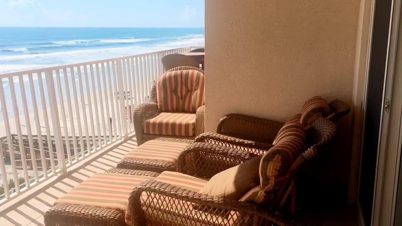 Floridas Best Vacation Rentals Oceanfront Condo Balcony View Sanibel 303 Daytona Beach Shores