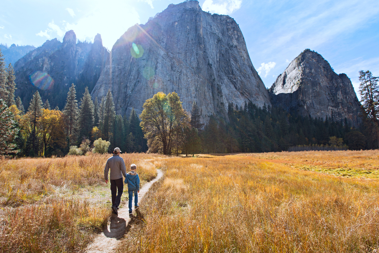 Hiking Guide for Beginners Yosemite Hiking Trail Father and Son