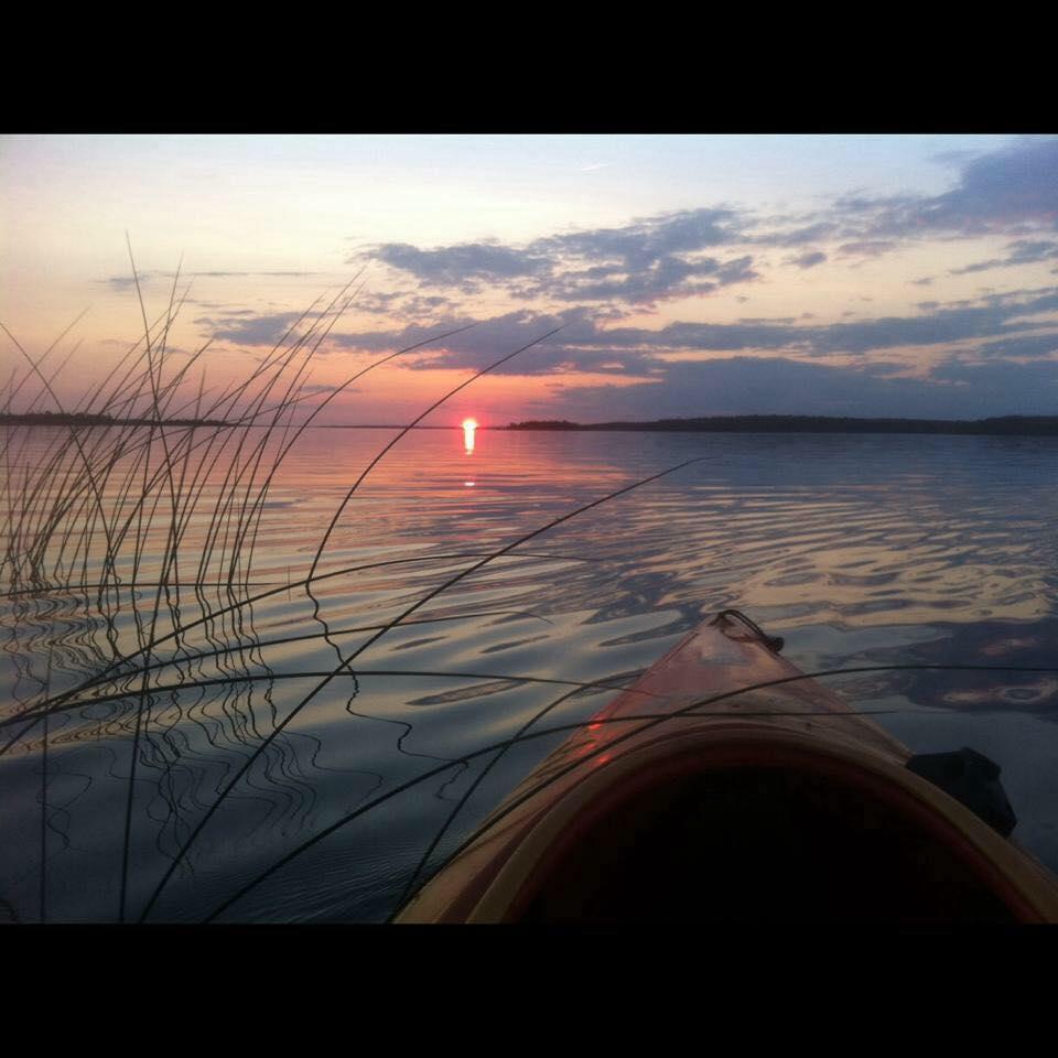 Kayak on Lake Huron around Drummond Island in Michigan's Upper Peninsula
