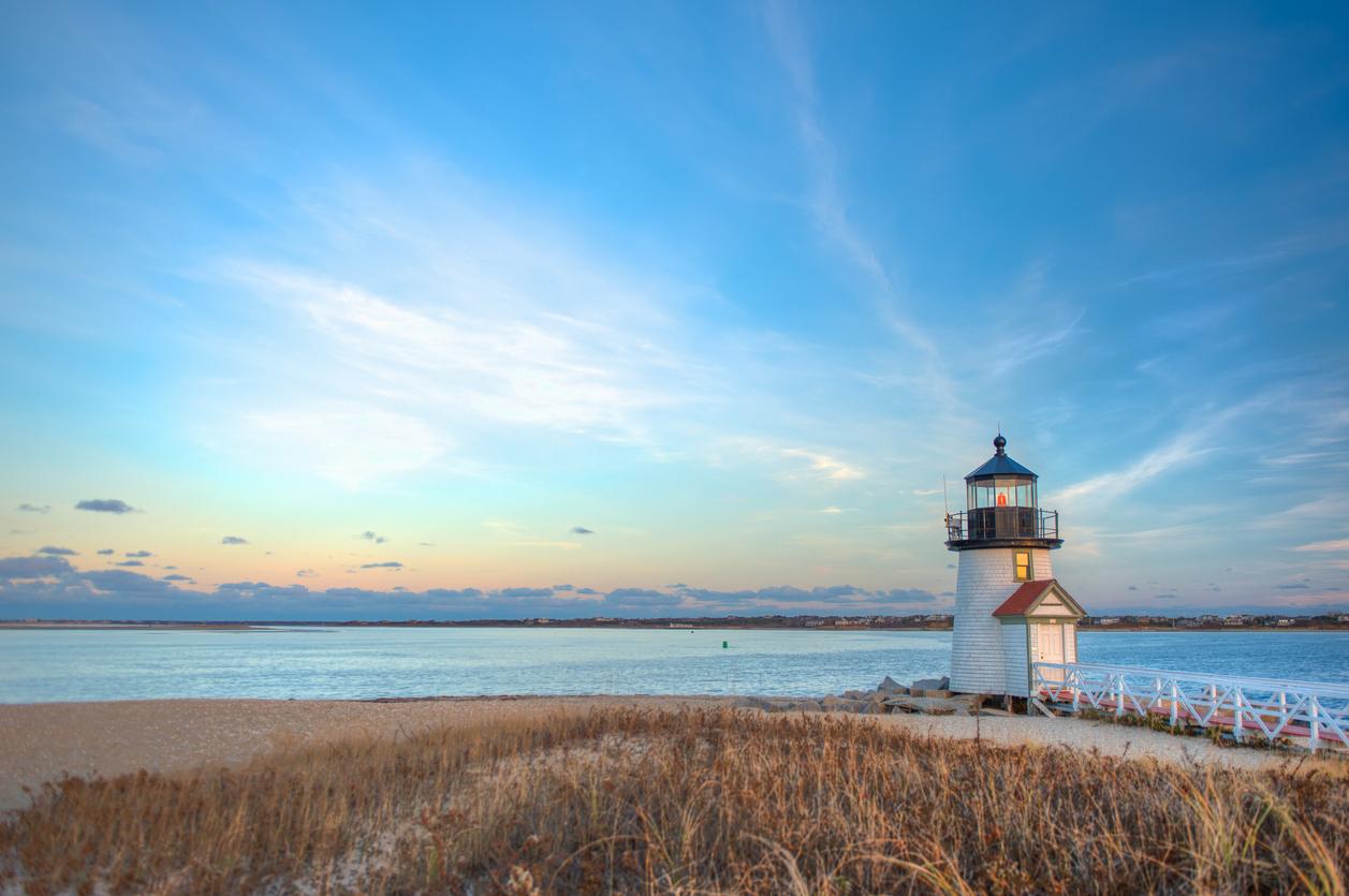 Nantucket Brant Point Lighthouse Massachusetts.