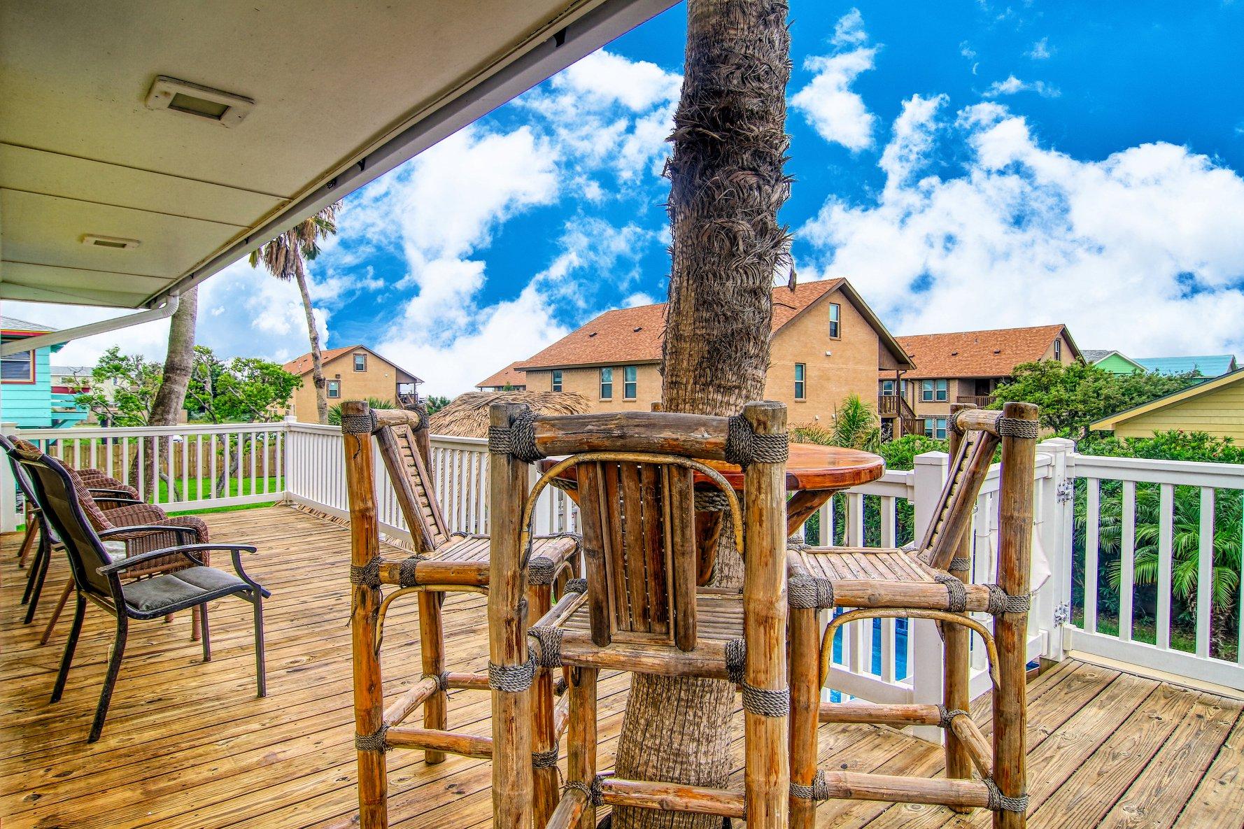 Port A Beach House Company Port Aransas Vacation Home Deck Mustang Island Texas Gulf Coast.