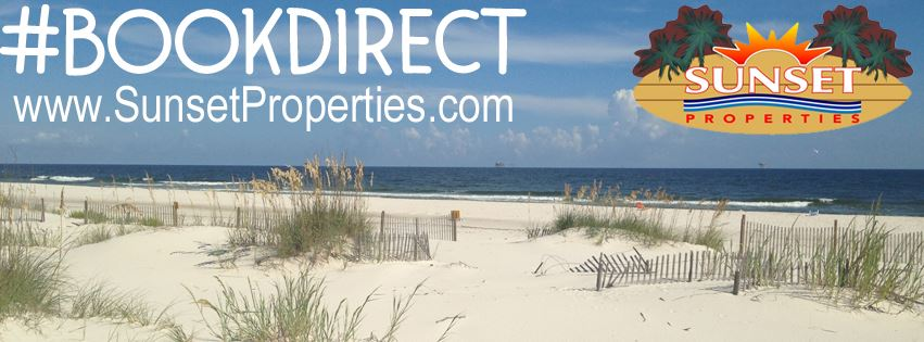 Book Direct with Sunset Properties in the Alabama Gulf Shore