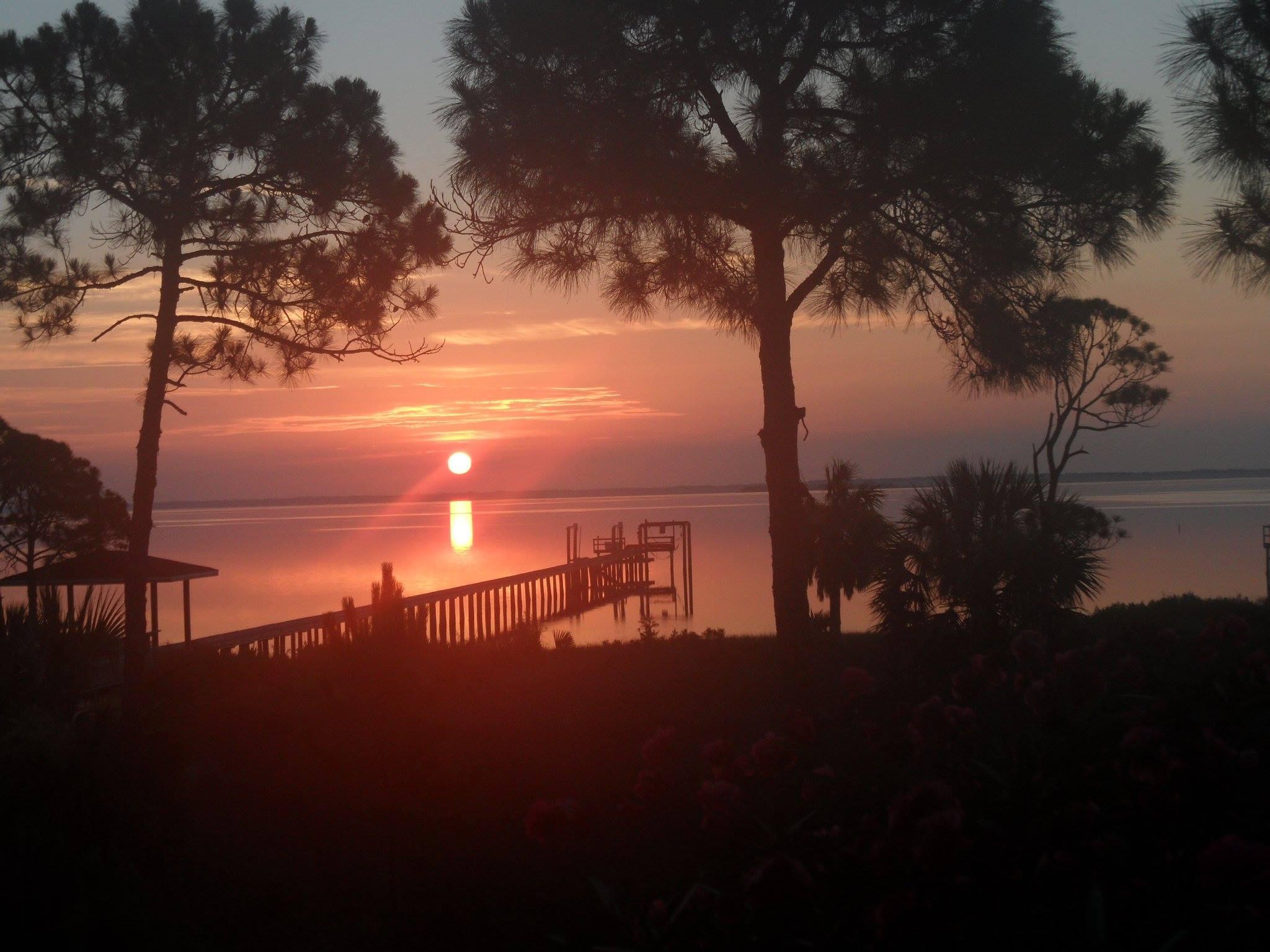 Sunset Reflections Natural Retreats Cape San Blas Sunset