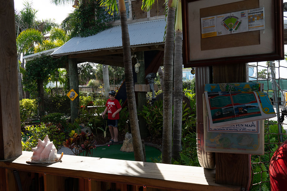 The Fish Hole Miniature Golf in Anna Maria Island Florida