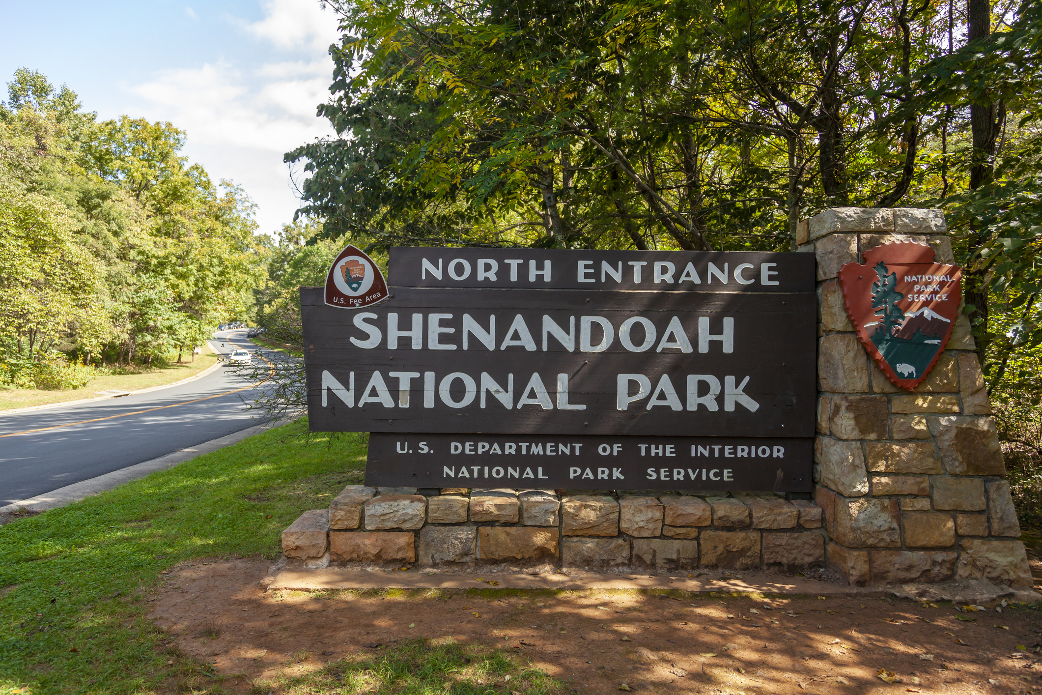 Shenandoah Valley Virginia National Park Entrance
