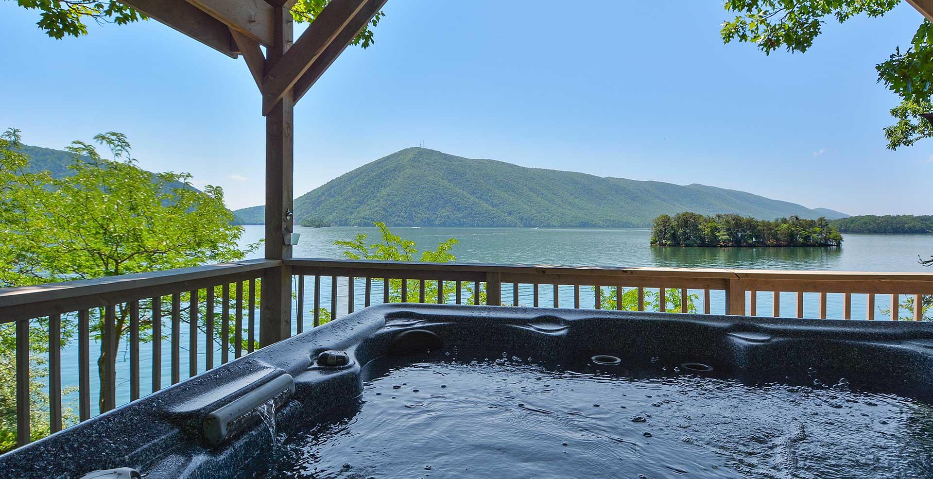 Things To Do Hot Tub View Smith Mountain Lake Virginia