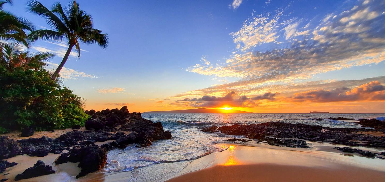 Visit Hawaiian Islands Maui Hawaii Beach Sunset
