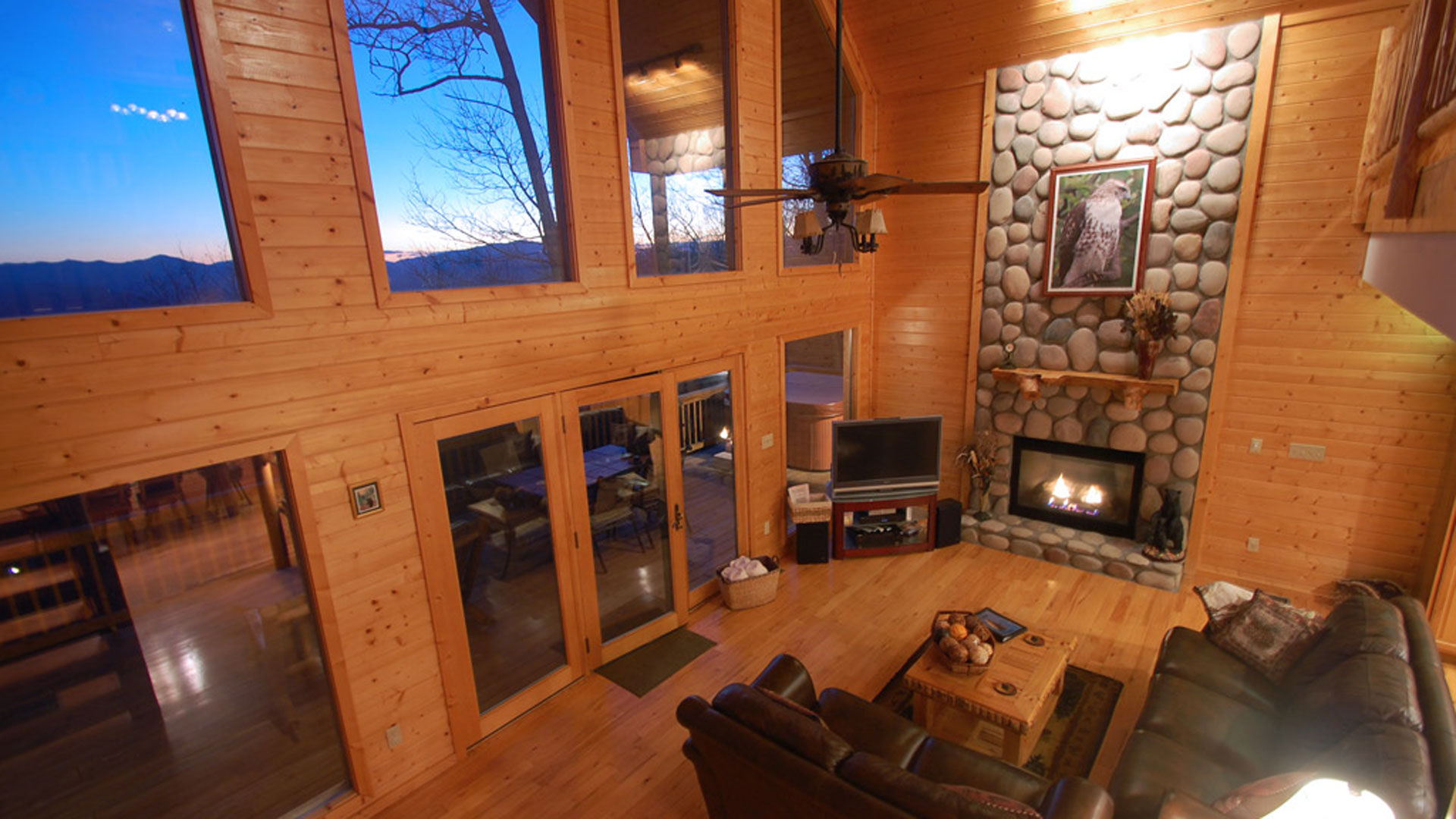 Watershed-Cabins-Bryson-City-Interior-Log-Cabin-Home-Rental