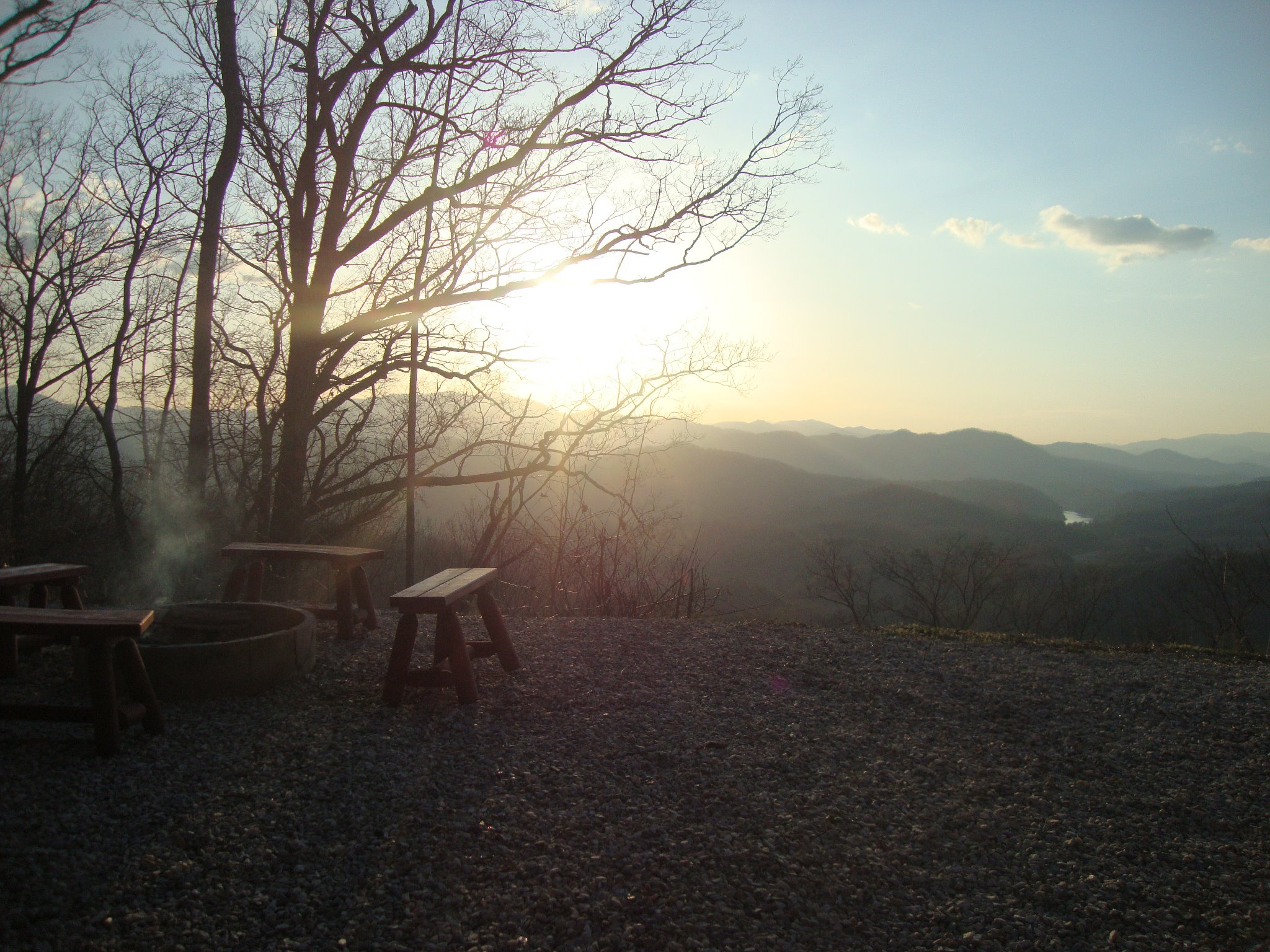 Watershed-Cabins-Bryson-City-Log-Cabin-Home-Sunset