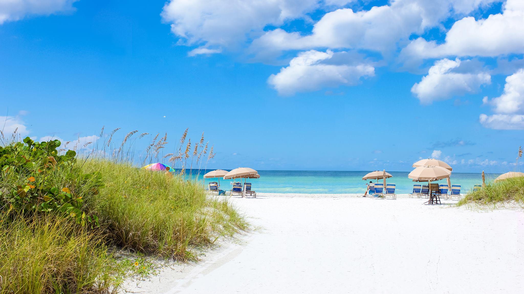 to the beach tropical sands beach siesta key