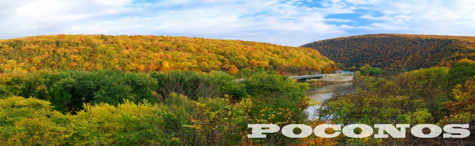 Poconos vacation rental map find rentals for Long pond pa cabin rentals