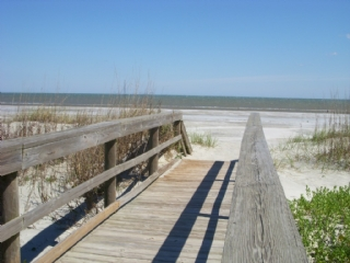 the beach is just steps away!