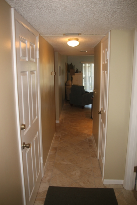 Entry view of condo with tile floors