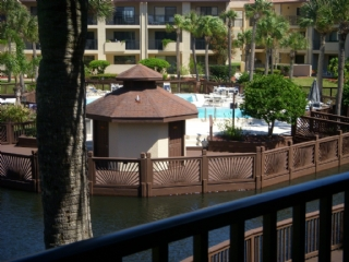 View from balcony of Heated Pool and Lagoon