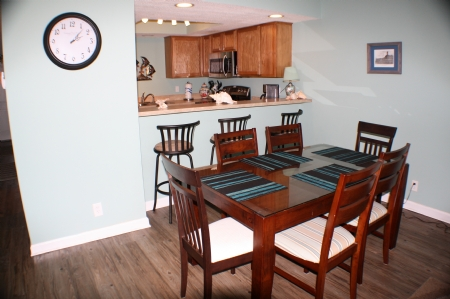 Dining room open to kitchen and living room