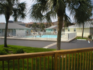 View of Pool Area from Patio