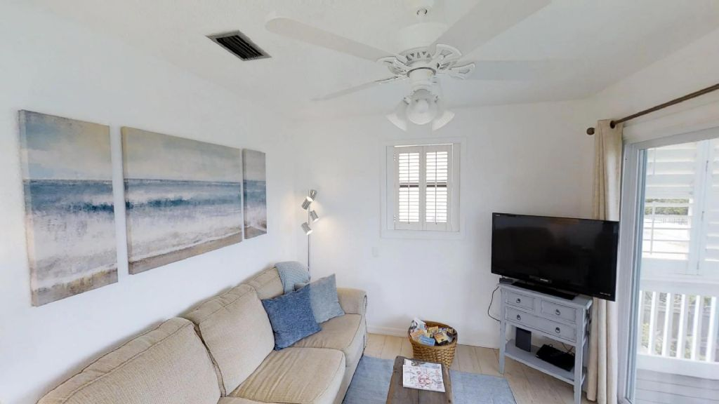 Living Room with flat panel TV upstairs