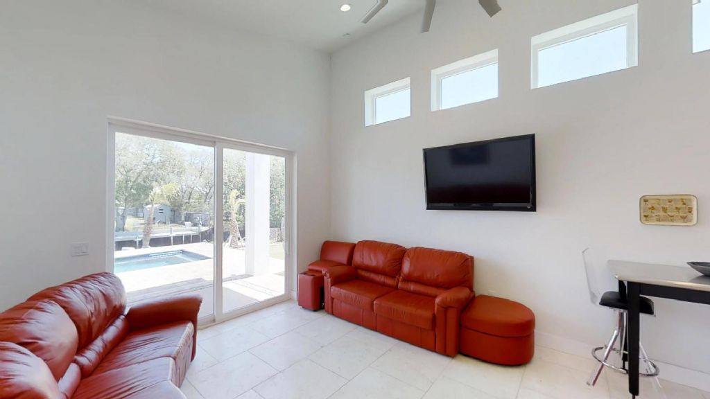Living Room with flat panel TV