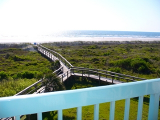 View from oceanfront patio