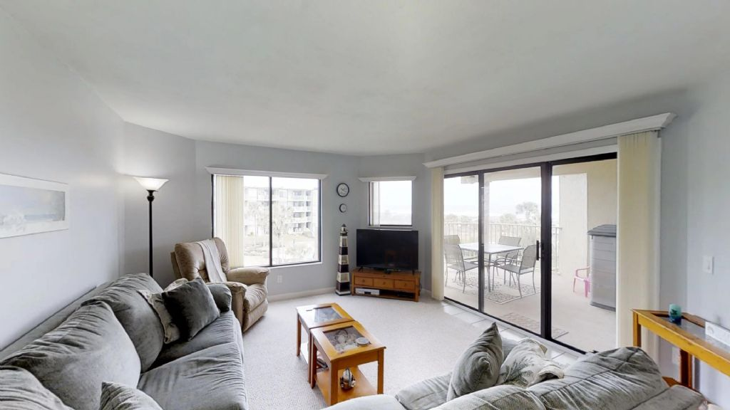 Living Area with views and flat panel tv