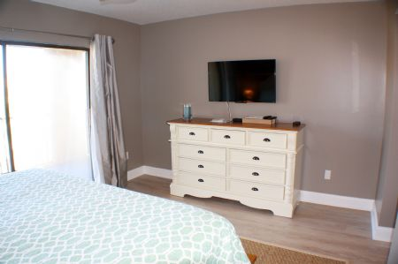 Master bedroom with flat panel tv