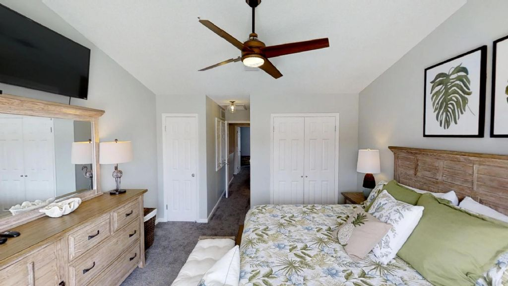 Master Bedroom on 2nd floor with King bed