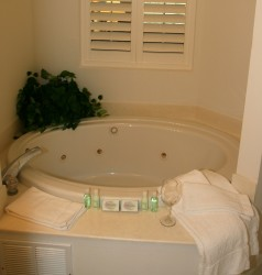 Relax in your private whirlpool tub