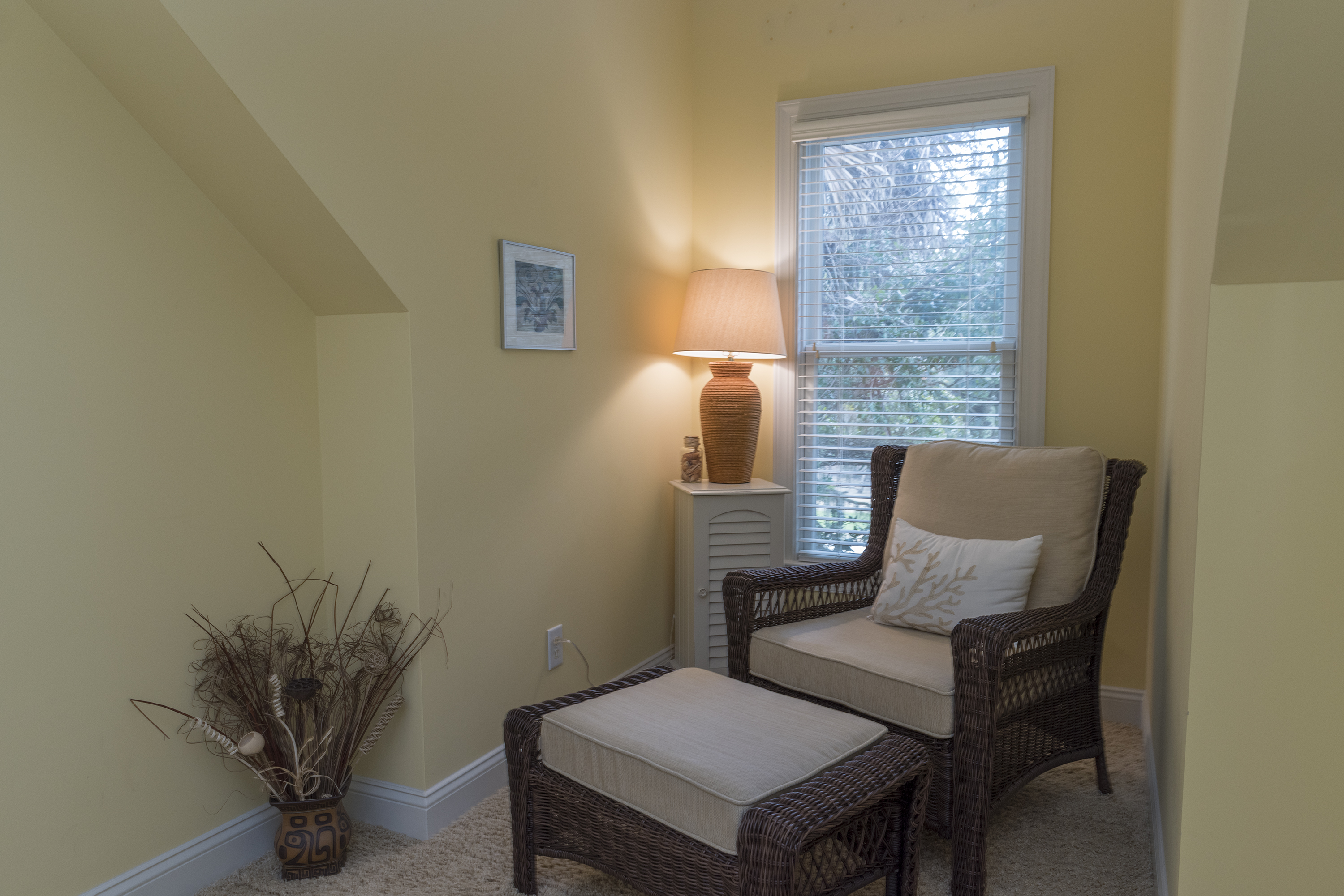 Reading nook in the 4th bedroom.