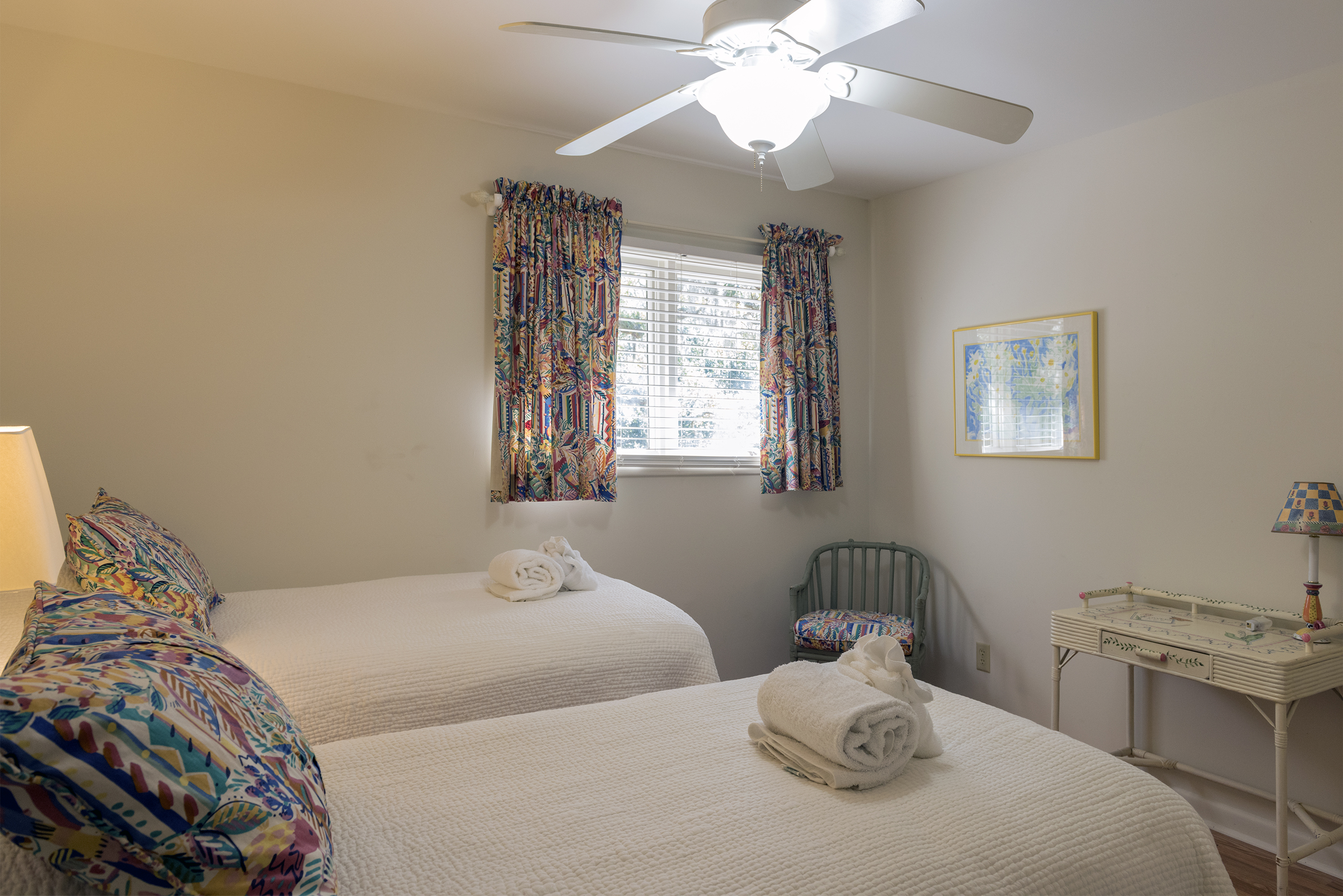 Your guests will feel very comfortable in this bedroom.