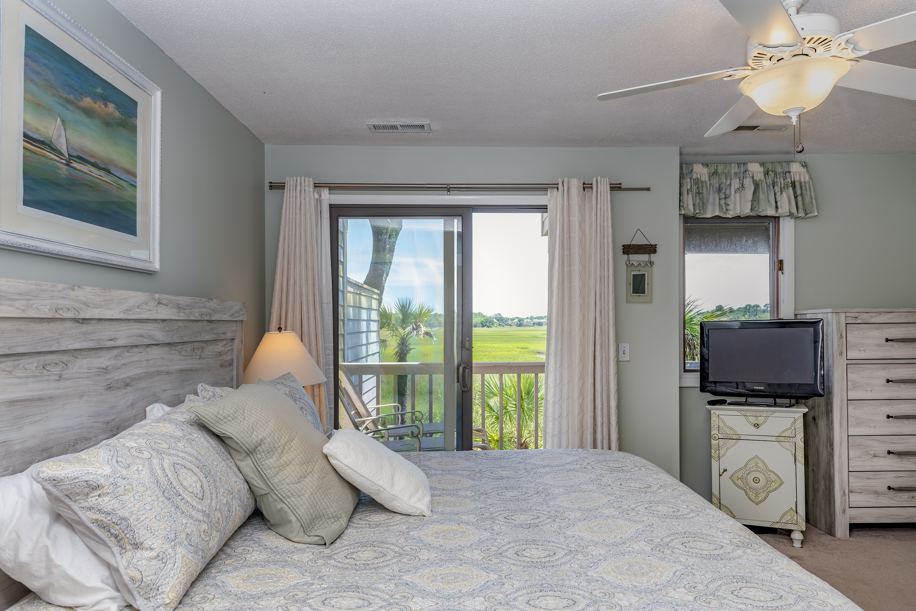 Private deck access from the master bedroom - this bedroom is completely private to the outside world!