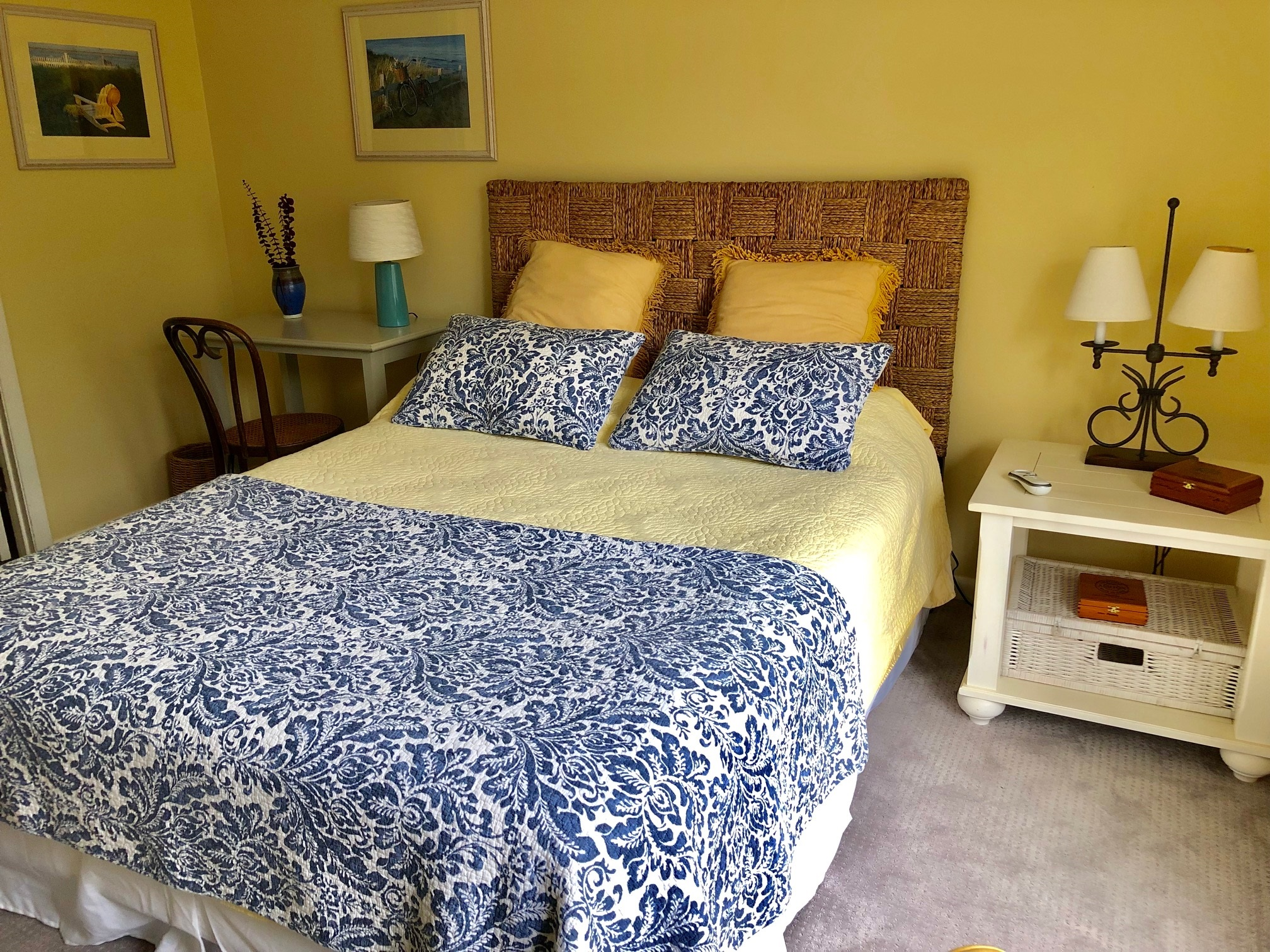 Guest bedroom with writing desk