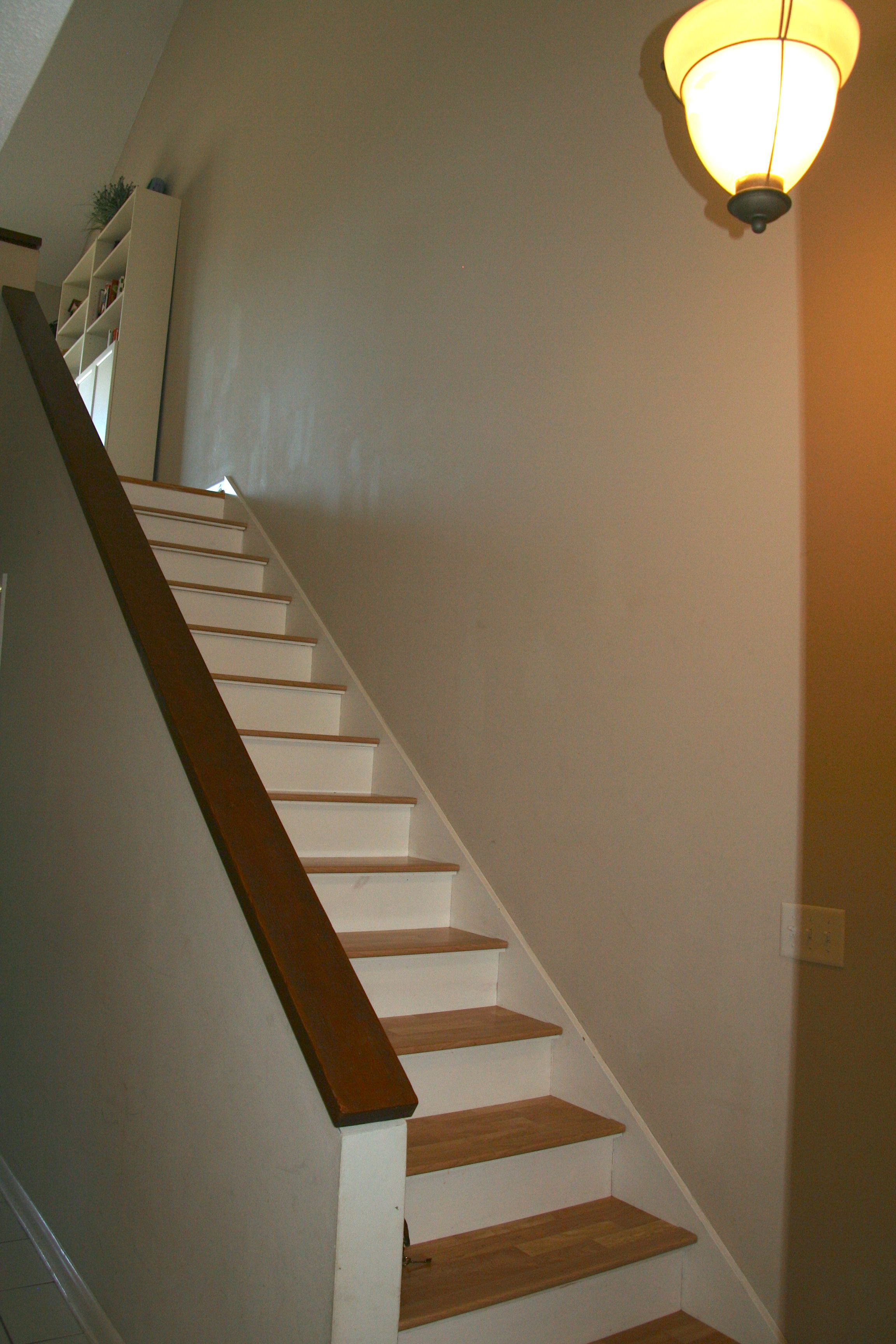 Head downstairs to the bedroom level.