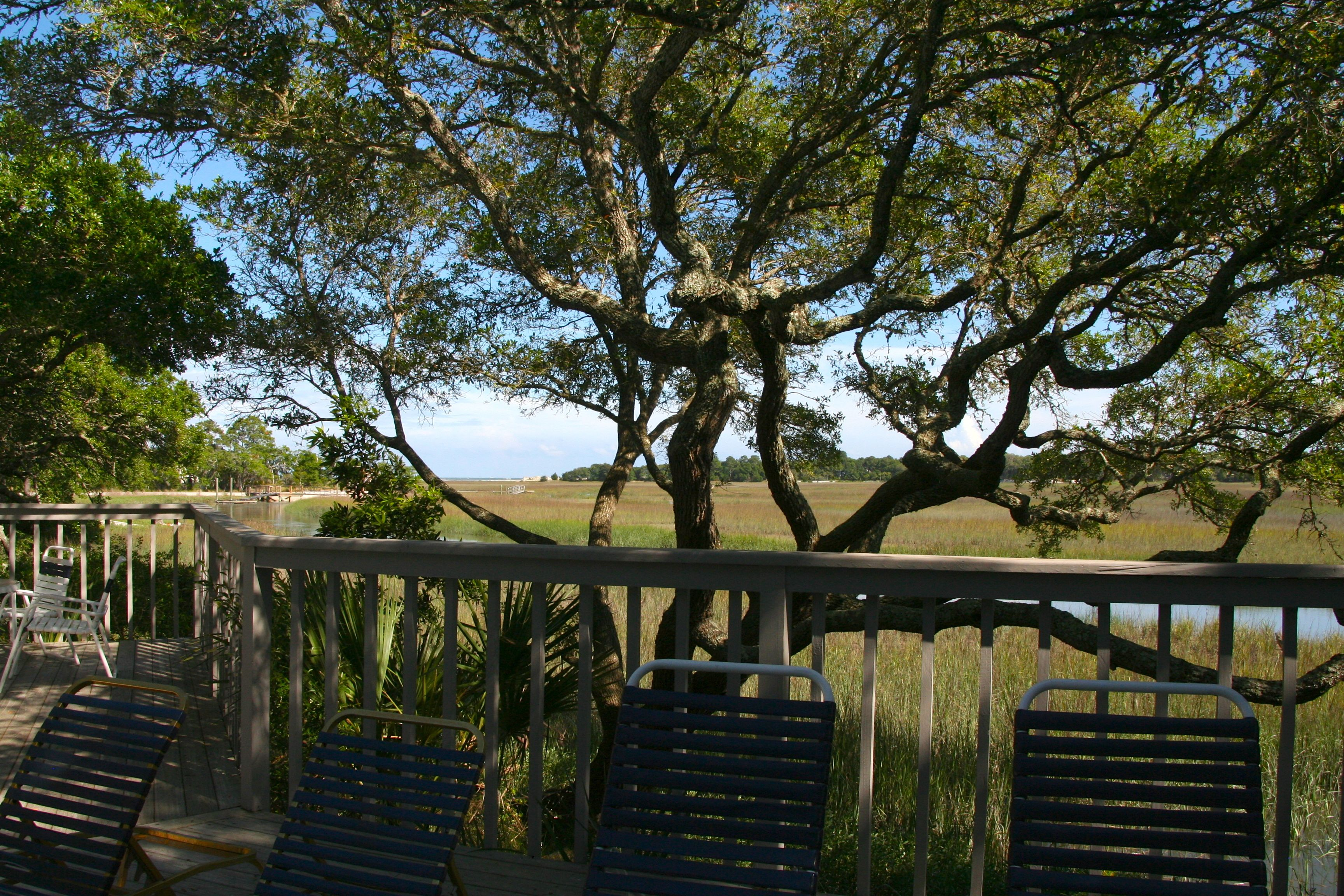 With views to the marsh and ocean beyond, you and your family will love spending time here.