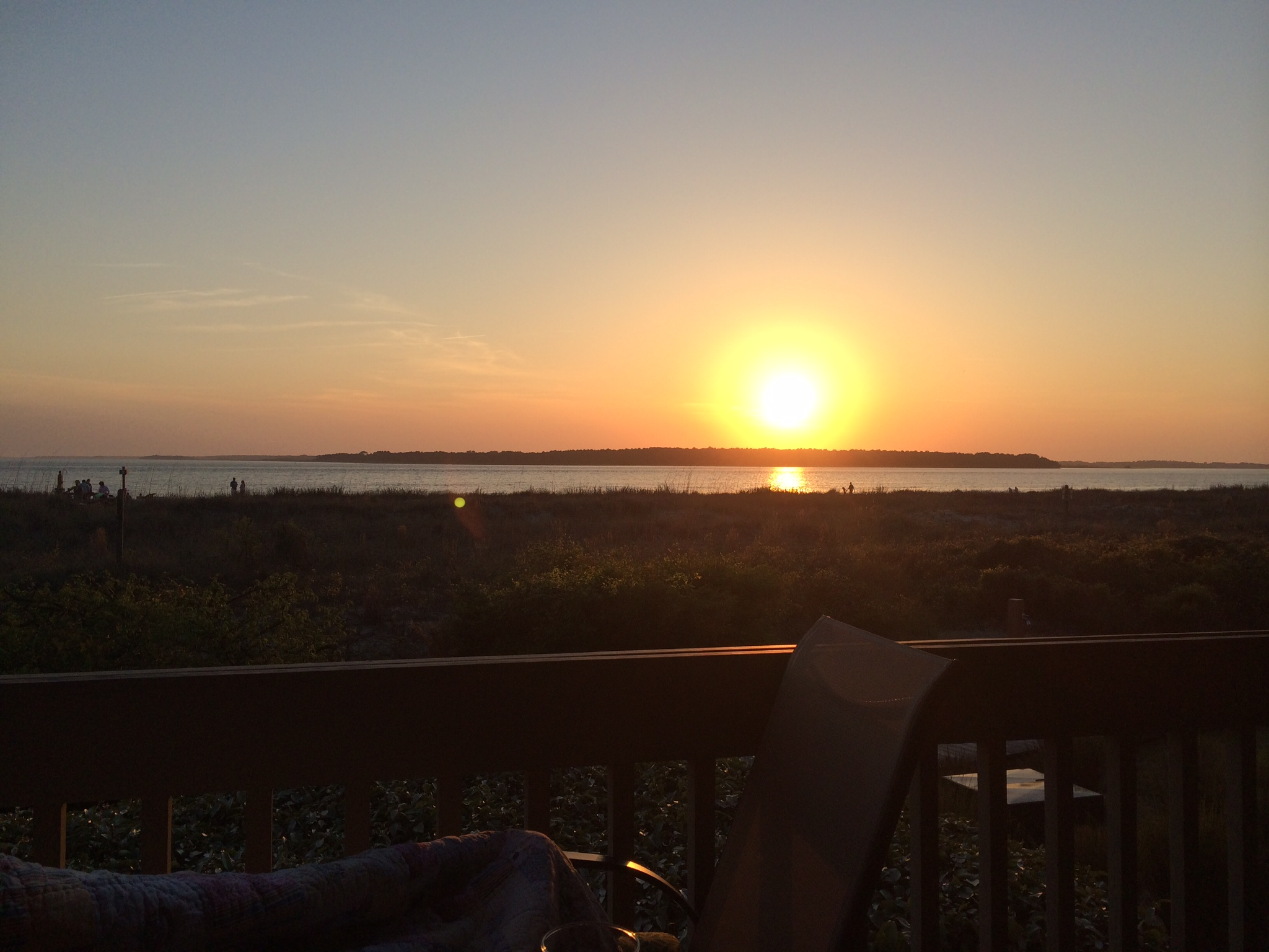 Watch the sun set over the Edisto River from your deck.