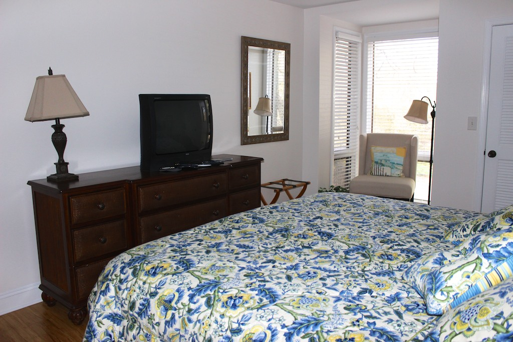 There is seating in the nook and a full sized dresser for your clothing.