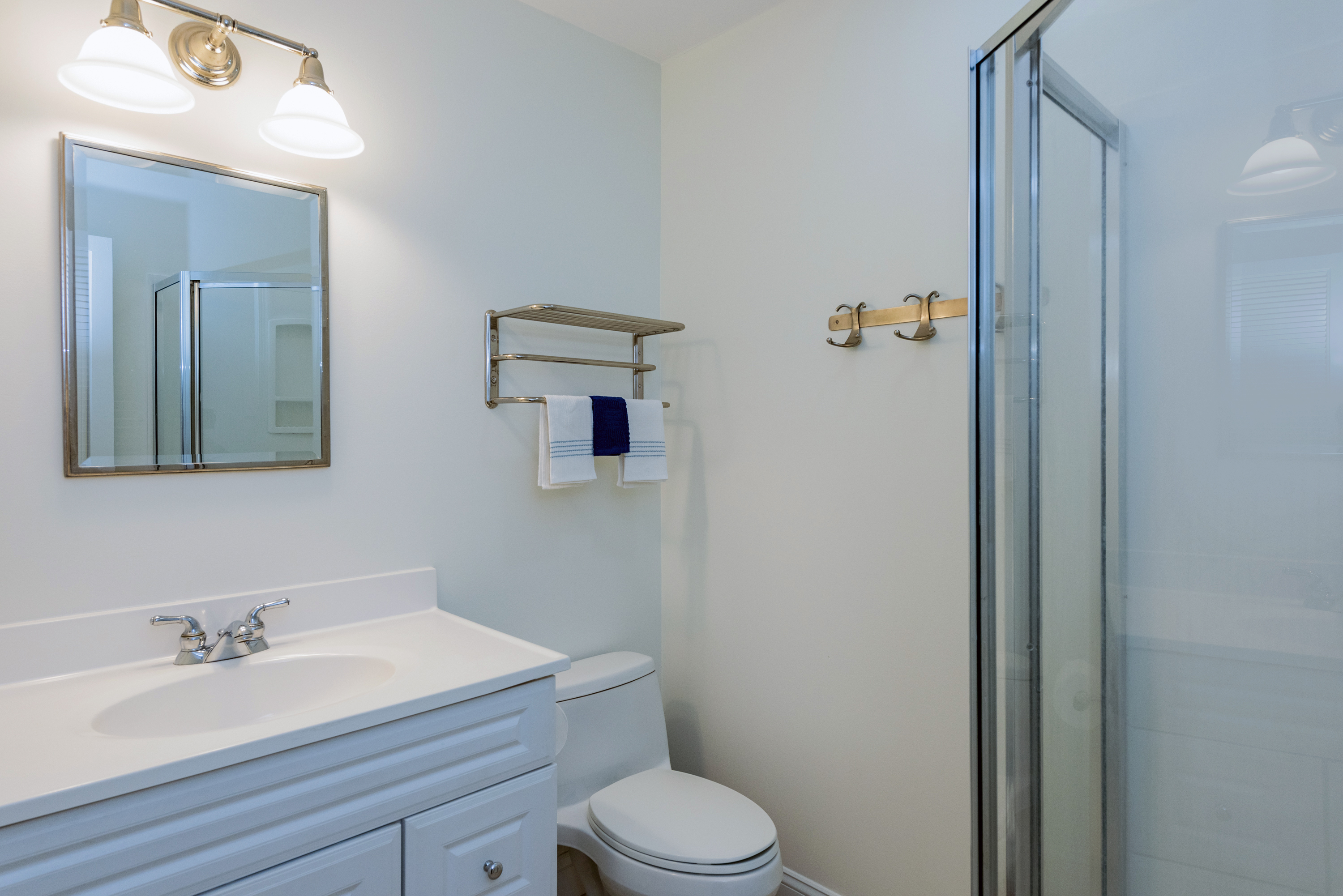 Full hall bathroom with shower