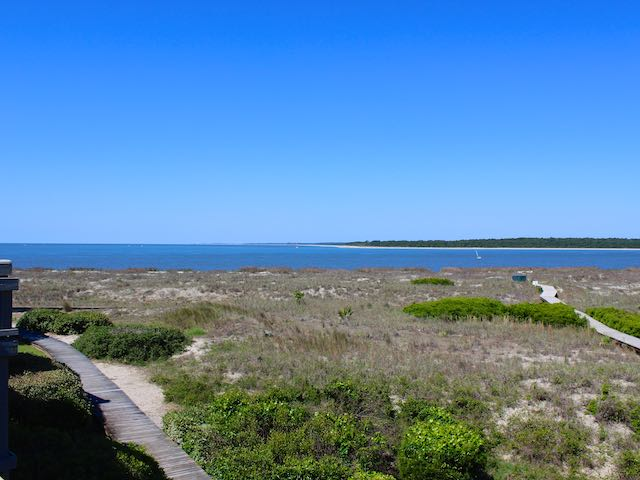 To the right, you will see the Atlantic Ocean where it meets the Edisto River.