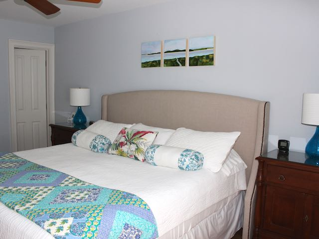 MBR #1 has a king bed and luxurious master bathroom.