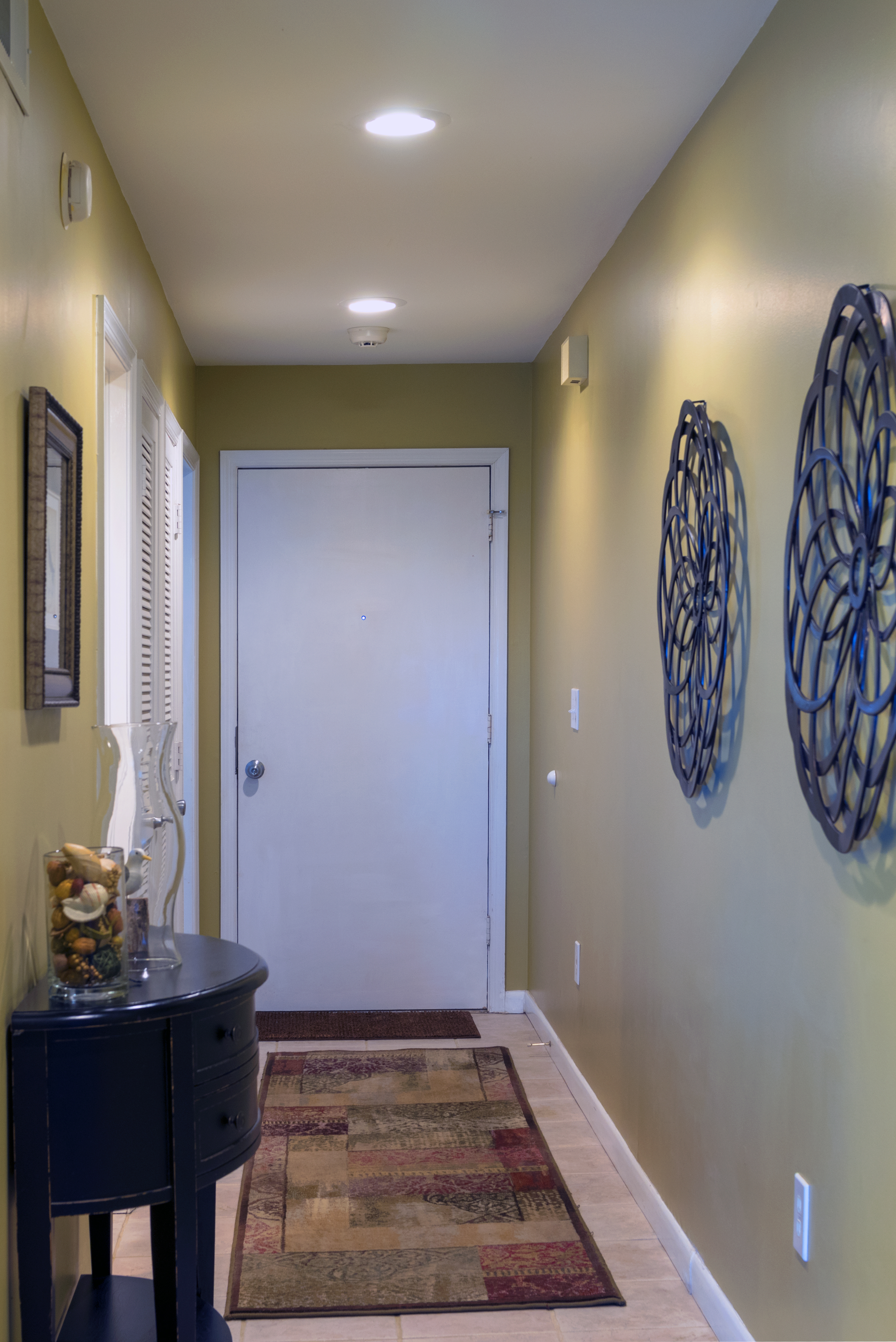 Head down the hall to the full bath and the master bedroom retreat.
