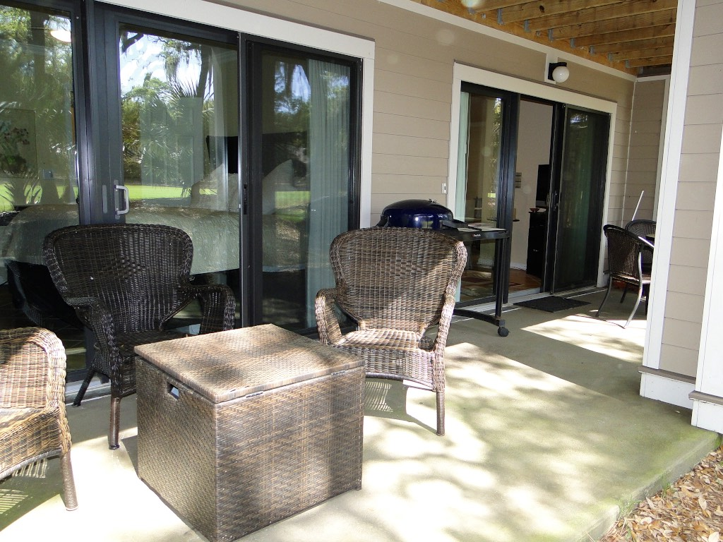 This comfortable patio invites you to relax.