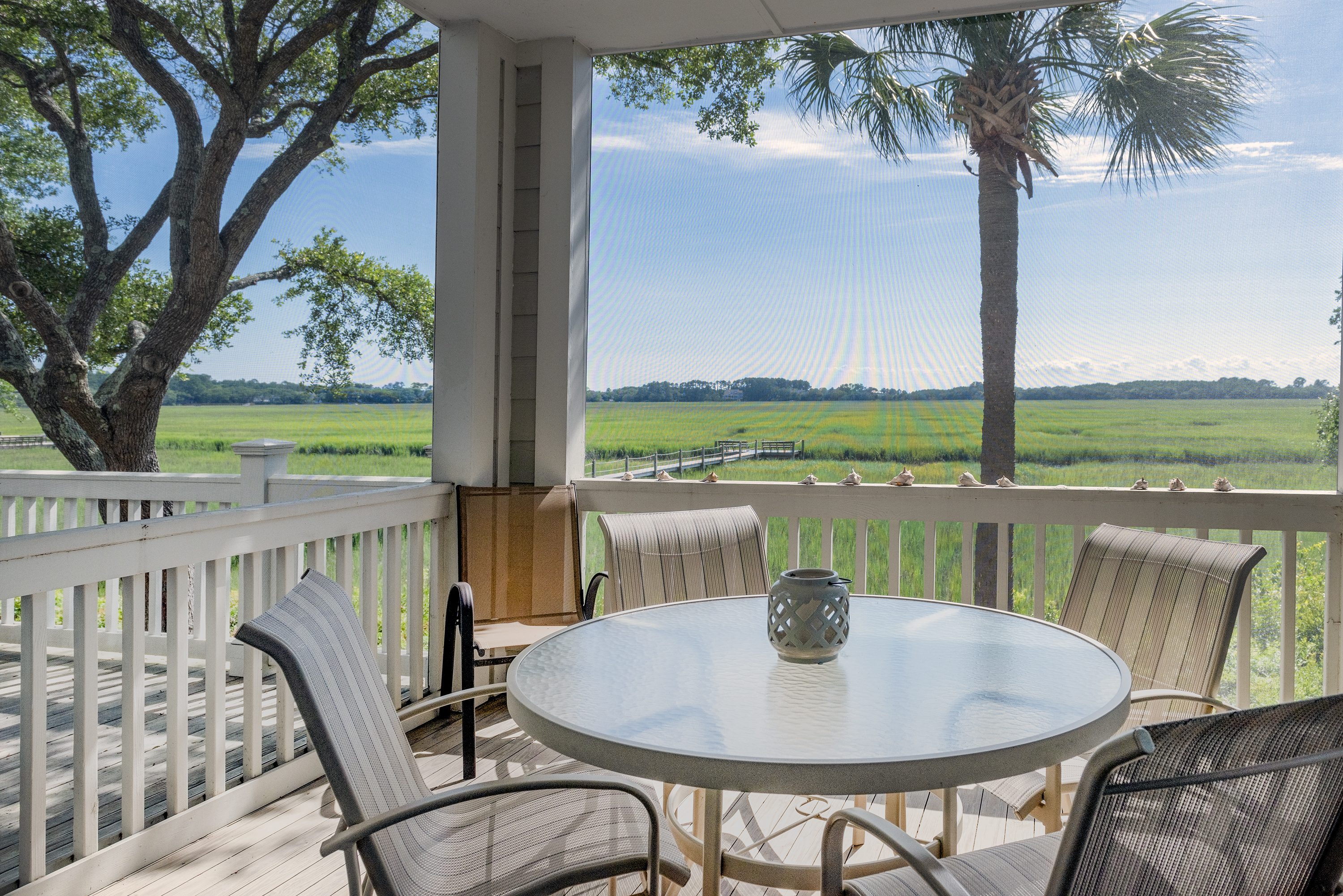 Fabulous views from the screened porch!