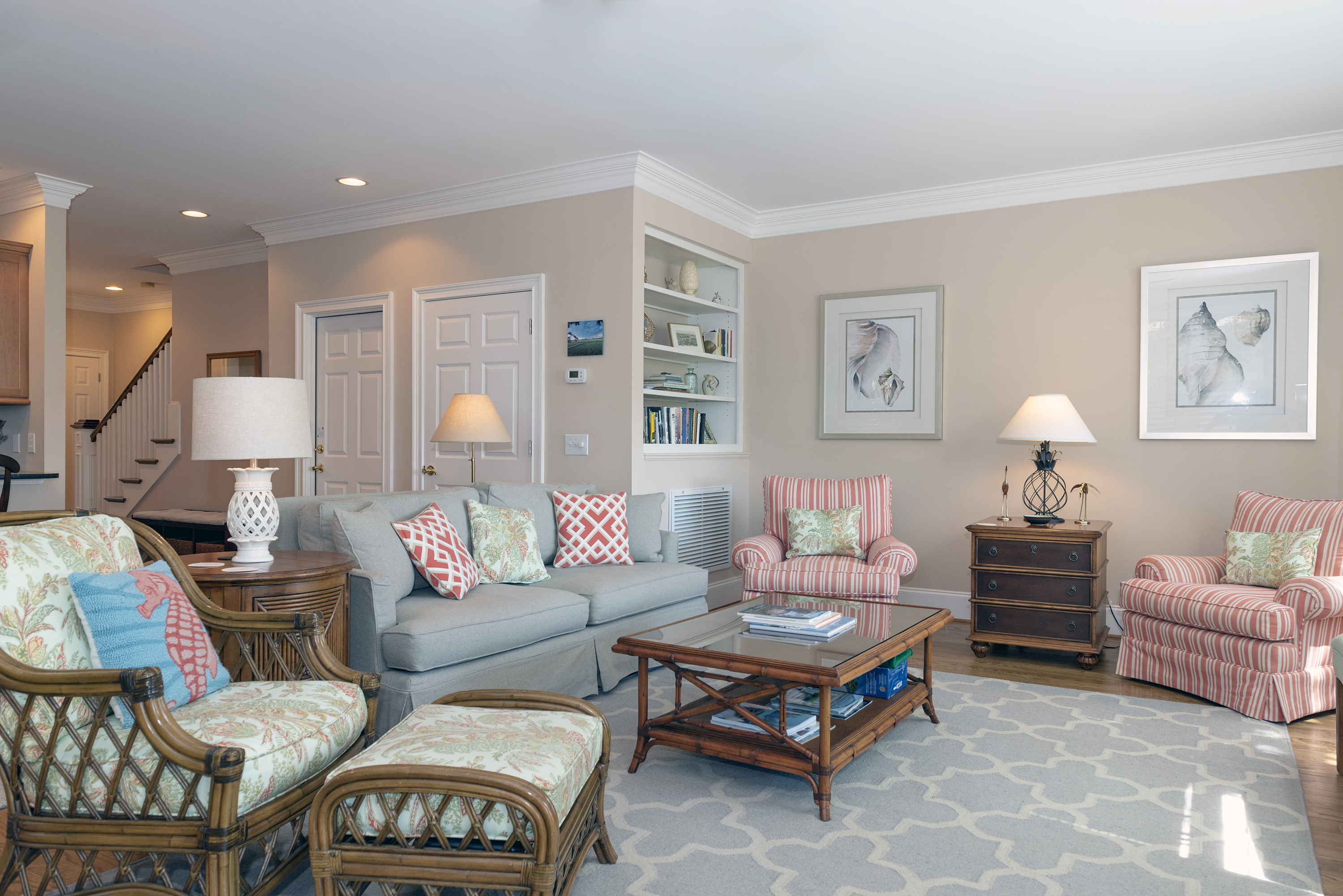 The great room has ample seating for everyone and windows bringing in all the natural light.