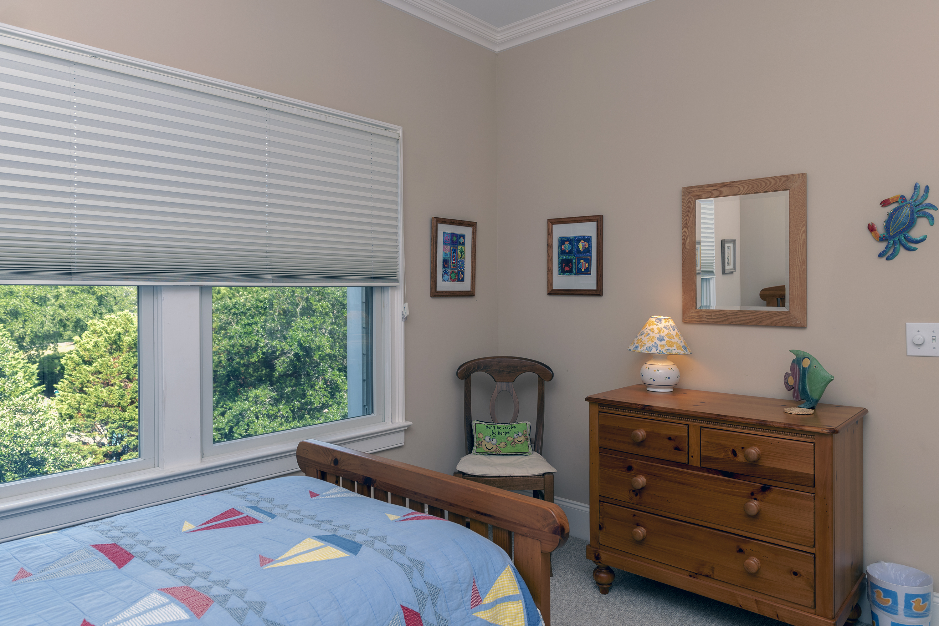 The third guest bedroom with twin/trundle.