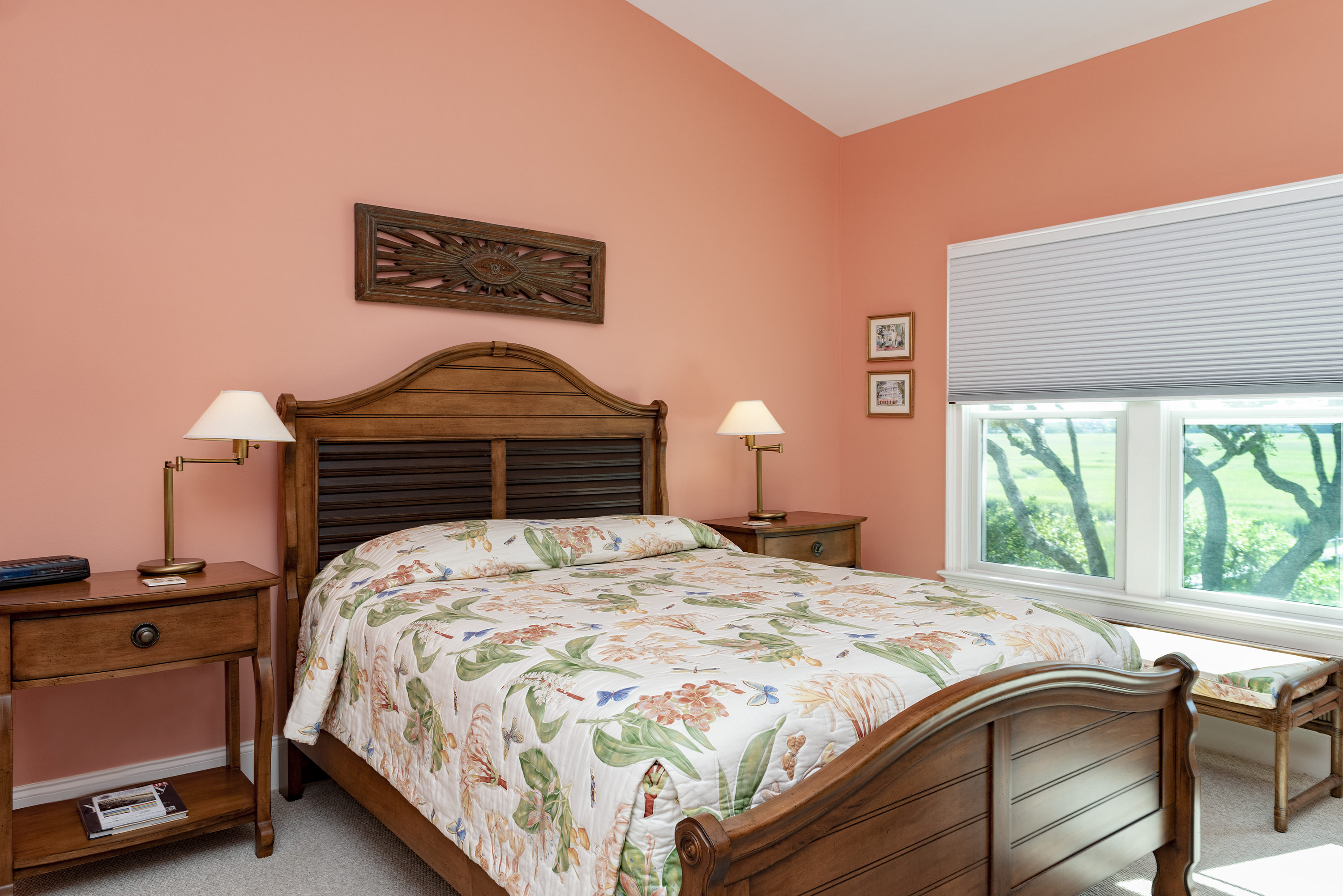 A queen bed and beautiful views start and end your day.